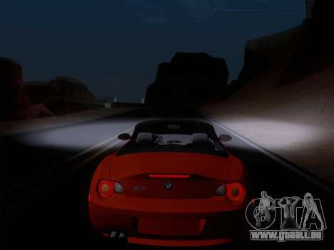 BMW Z4 Edit pour GTA San Andreas vue intérieure