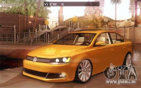 Volkswagen Vento 2012 pour GTA San Andreas vue intérieure