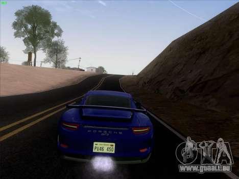 Porsche 911 GT3 2014 pour GTA San Andreas vue intérieure