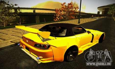 Honda S2000 Amuse GT1 pour GTA San Andreas sur la vue arrière gauche