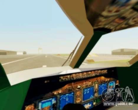 Sukhoi Superjet 100-95 Aeroflot pour GTA San Andreas vue de côté