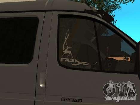 33023 Gazelle Business für GTA San Andreas Rückansicht