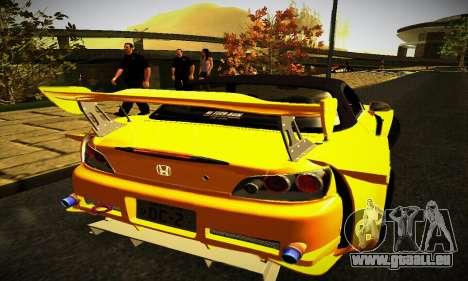 Honda S2000 Amuse GT1 pour GTA San Andreas vue de droite