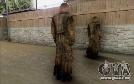 Bandit dans le manteau pour GTA San Andreas troisième écran
