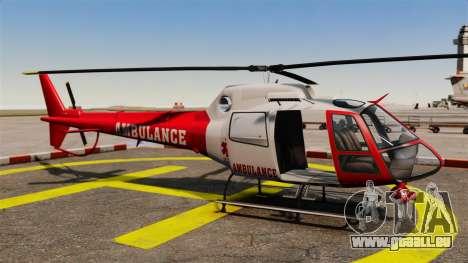 GTA V Police Maverick pour GTA 4 Vue arrière