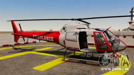 GTA V Police Maverick für GTA 4 Rückansicht