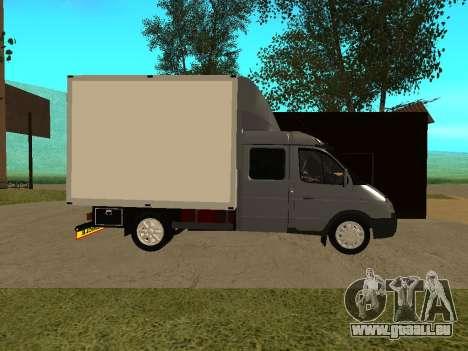 Business 33023 gazelle pour GTA San Andreas sur la vue arrière gauche