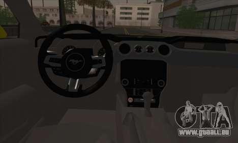 Ford Mustang 2015 Swag pour GTA San Andreas vue de dessus