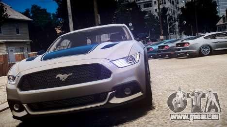 Ford Mustang GT 2015 pour GTA 4 est un côté