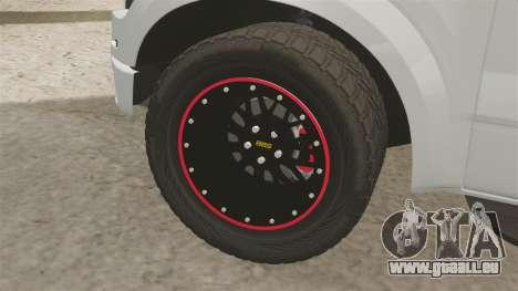 Ford SVT Raptor 2012 pour GTA 4 Vue arrière