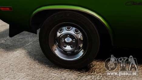 Dodge Challenger 1971 v2 für GTA 4 Rückansicht