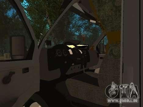 Business 33023 gazelle pour GTA San Andreas vue intérieure