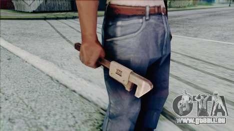 Clé à molette pour GTA San Andreas cinquième écran