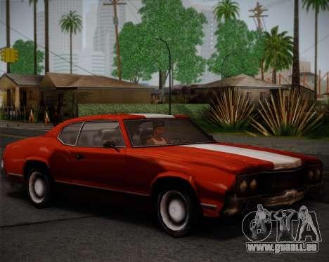 Sabre Turbo pour GTA San Andreas vue arrière