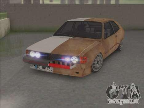 VW Scirocco S (la moitié) pour GTA San Andreas laissé vue