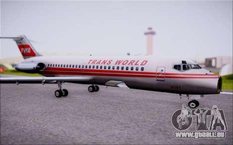 McDonnel Douglas DC-9-10 für GTA San Andreas obere Ansicht