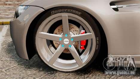 BMW M3 E92 2008 pour GTA 4 est une vue de l'intérieur