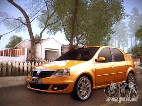 Dacia Logan GrayEdit pour GTA San Andreas vue intérieure
