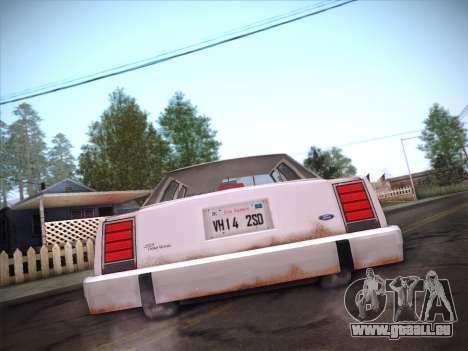 Ford LTD Crown Victoria 1985 für GTA San Andreas Unteransicht