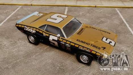 Dodge Challenger 1971 v1 pour GTA 4 vue de dessus
