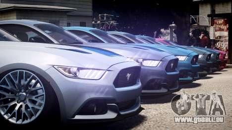 Ford Mustang GT 2015 pour GTA 4 vue de dessus