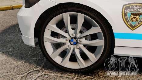 BMW 350i NYPD [ELS] für GTA 4 Rückansicht