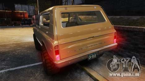 Chevrolet Blazer K5 1972 für GTA 4-Motor