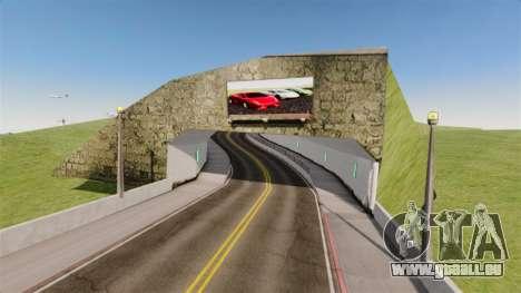 Salon de l'automobile Lamborghini pour GTA 4 troisième écran