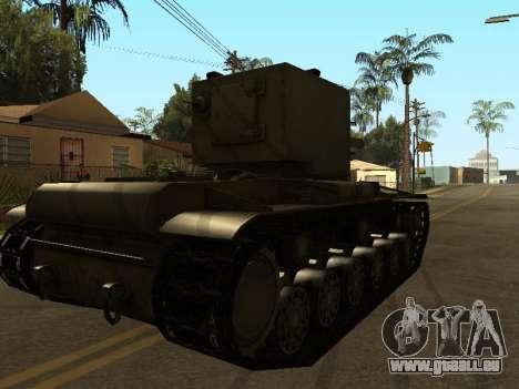 KV-2 pour GTA San Andreas sur la vue arrière gauche