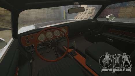 Dodge Challenger 1971 v2 pour GTA 4 est une vue de l'intérieur