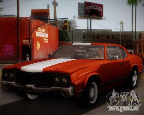 Sabre Turbo pour GTA San Andreas vue de droite