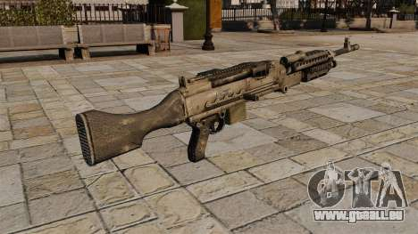 M240 mitrailleuse pour GTA 4 secondes d'écran