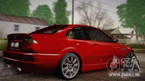 BMW E46 M3 Coupe pour GTA San Andreas laissé vue