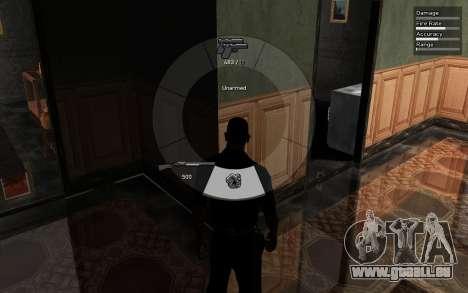 GTA V Weapon Scrolling pour GTA San Andreas troisième écran