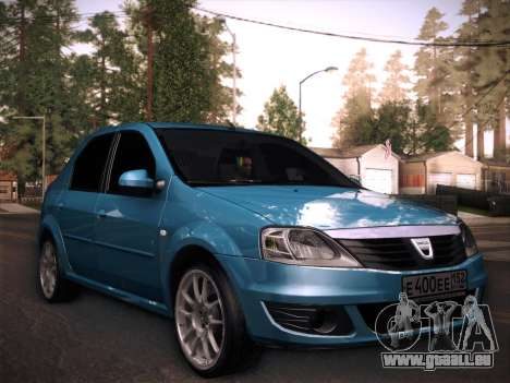 Dacia Logan GrayEdit pour GTA San Andreas sur la vue arrière gauche