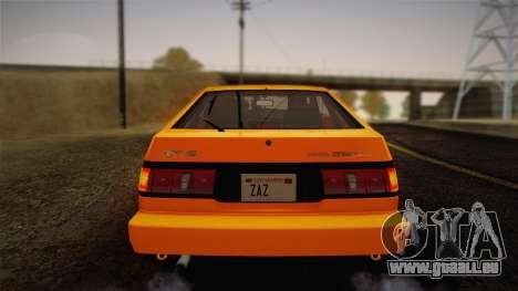 Toyota Corolla GT-S AE86 1985 pour GTA San Andreas vue de côté