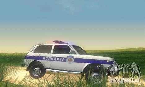 Lada Niva Patrola pour GTA San Andreas sur la vue arrière gauche