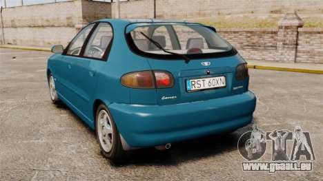 Daewoo Lanos PL 2001 pour GTA 4 Vue arrière de la gauche