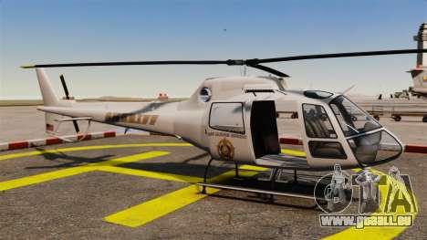 GTA V Police Maverick für GTA 4 rechte Ansicht