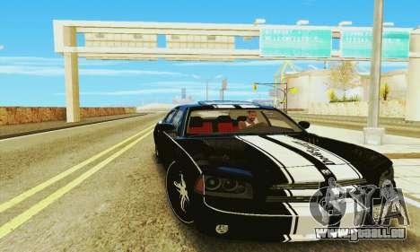 Dodge Charger DUB pour GTA San Andreas sur la vue arrière gauche
