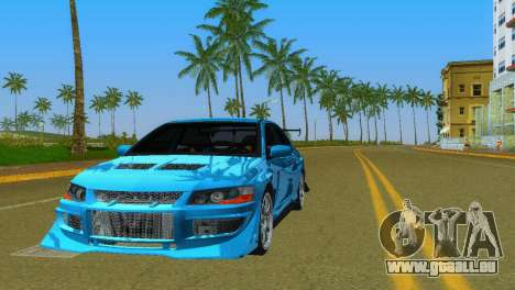 Mitsubishi Lancer Evolution VIII Type 8 für GTA Vice City obere Ansicht