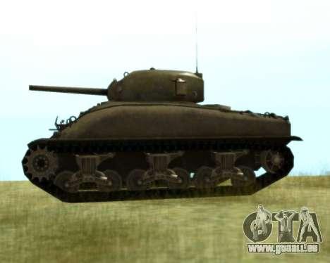 M4 Sherman pour GTA San Andreas sur la vue arrière gauche