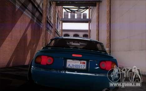 Mazda Miata pour GTA San Andreas vue arrière