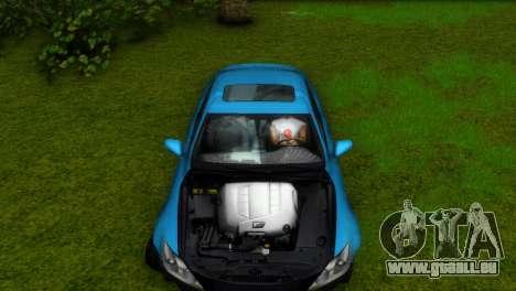 Lexus IS-F für GTA Vice City Seitenansicht