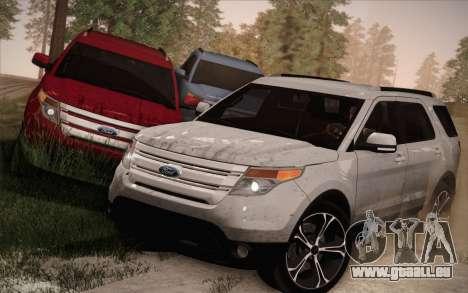 Ford Explorer 2013 pour GTA San Andreas vue de dessous
