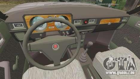 GAZ 31029 taxi für GTA 4 Rückansicht