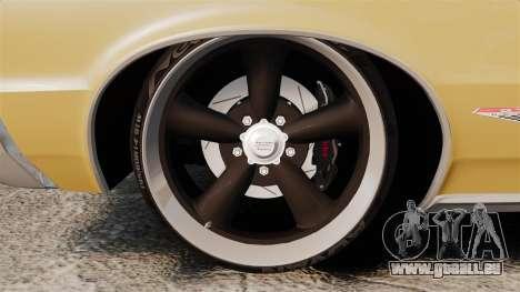Pontiac GTO 1965 pour GTA 4 Vue arrière