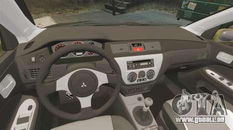 Mitsubishi Lancer Evolution IX 2006 tuning 2f2f pour GTA 4 est un côté