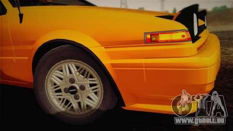Toyota Corolla GT-S AE86 1985 pour GTA San Andreas vue arrière