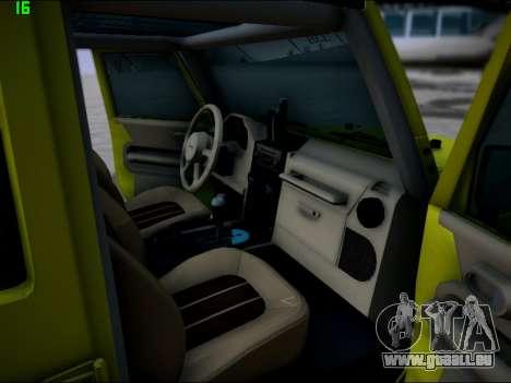 Jeep Wrangler Unlimited 2007 für GTA San Andreas Innenansicht